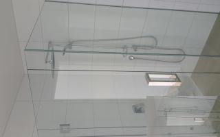 frameless shower square handle