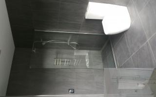 single panel shower